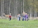 Schoolchildren plant trees in the deer garden of Vecumnieki